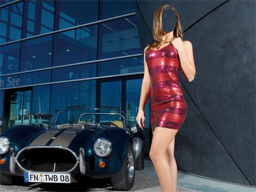 Девушки в коротких платьях в машинах