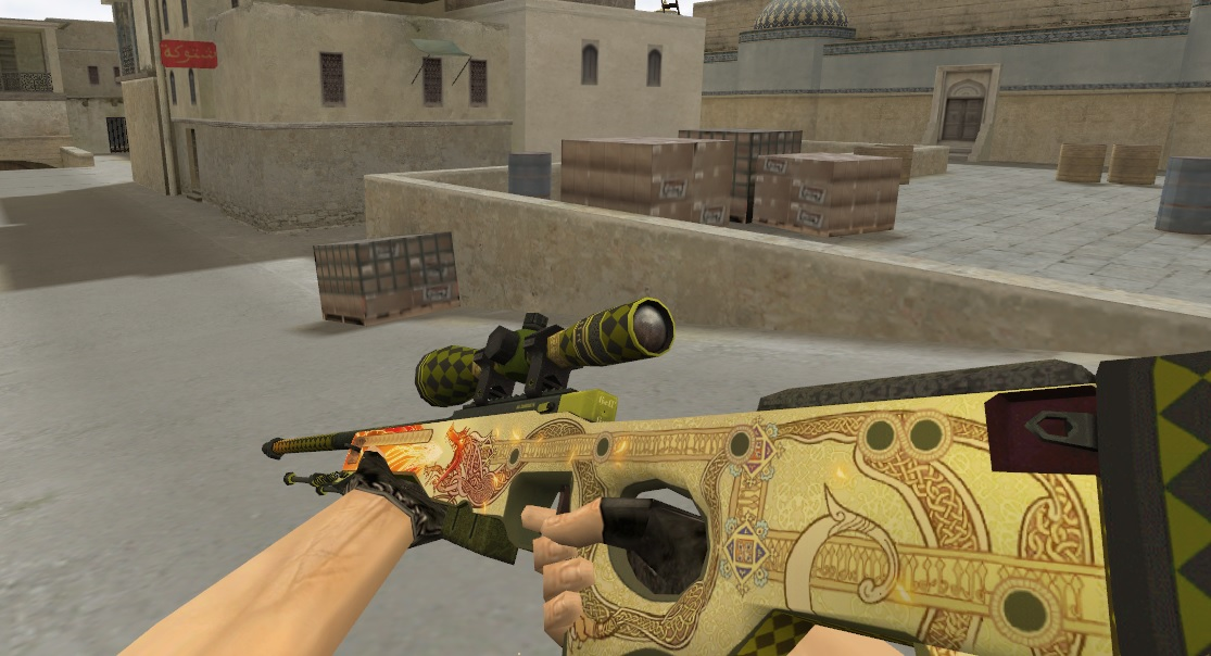 AWP DRAGON LORE для Counter-Strike 1.6
