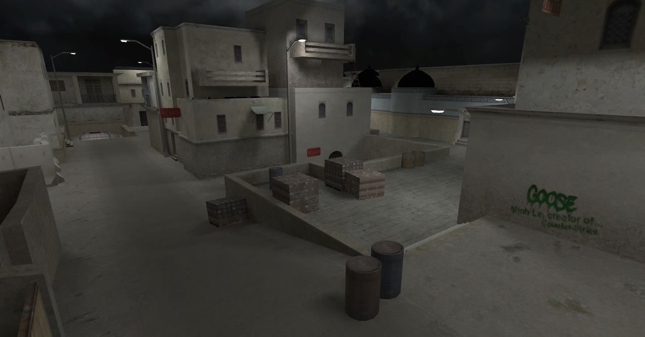 Карта De_Dust2Night из CSGO для CS 1.6