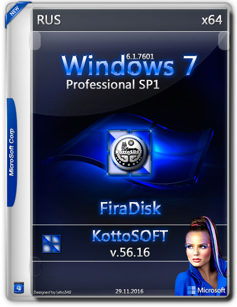 Windows 7 Professional SP1 x64 v.56.16 KottoSOFT FiraDisk