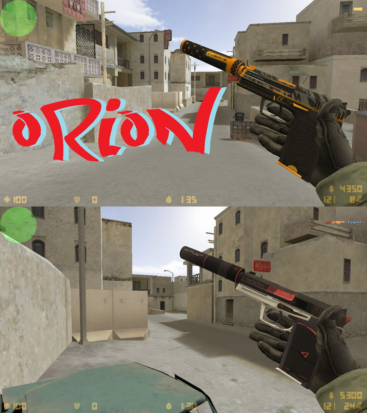 Модели USP «Orion and Cyrex» из CS:GO для Counter-Strike 1.6