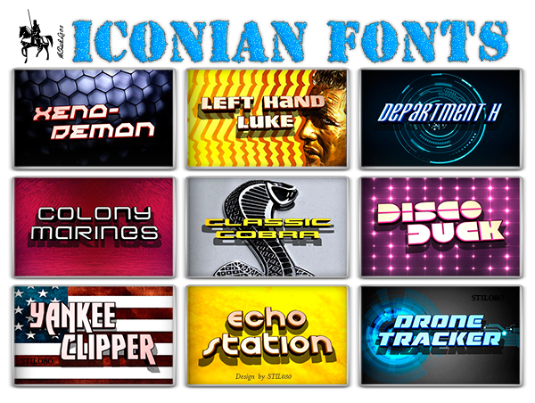Iconian - Pack of 75 fonts (TTF)