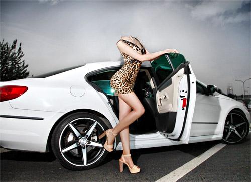 Идеи фото с машиной девушки